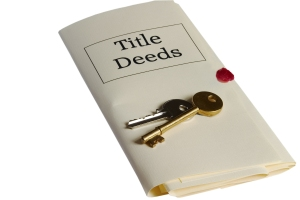 Title Deed with keys